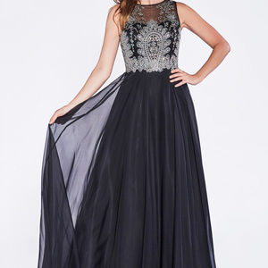 Jeweled Sleeveless Bridesmaid Long Dress